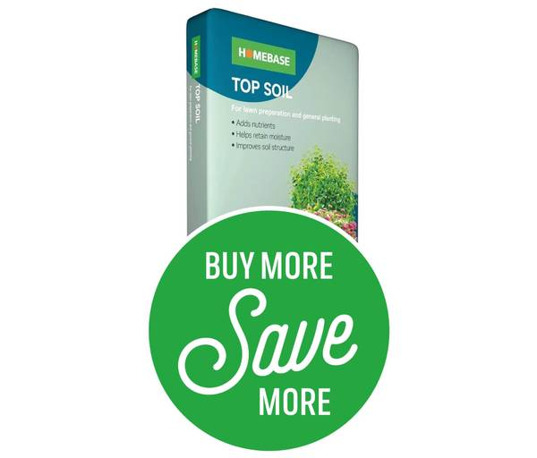 Buy More Save More - 4 for £14 or 8 for £25 on Homebase Top Soil 25L