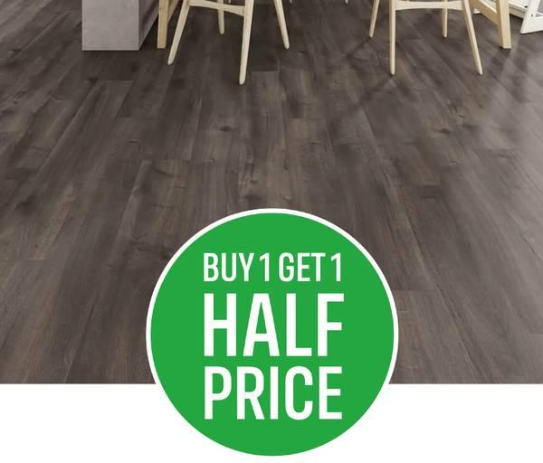 Buy One Get One Half Price on All Laminate, Luxury Vinyl Tiles and Solid & Engineered  Flooring