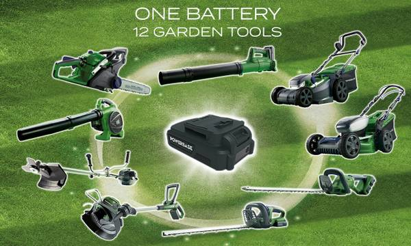 One battery system for 12 tools