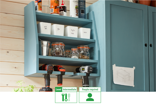 How to make your own drill and tool storage