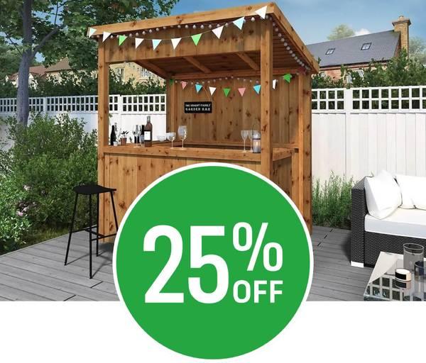 25% off Mercia Garden Bar
