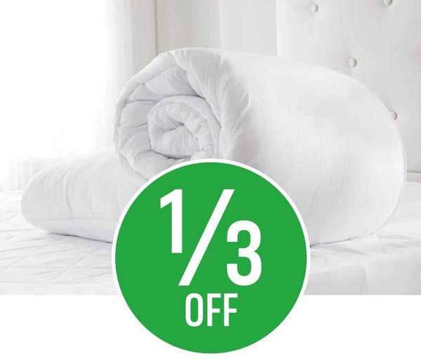 Get 1/3 off Soft Touch Duvets 10.5 tog