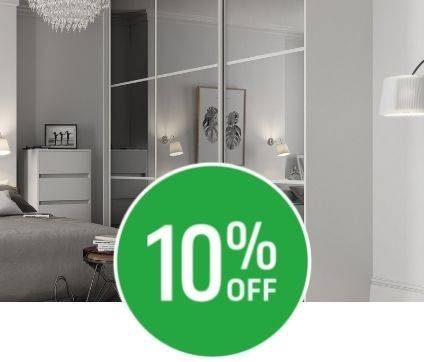 Get 10% off when you spend £300 on sliding doors.