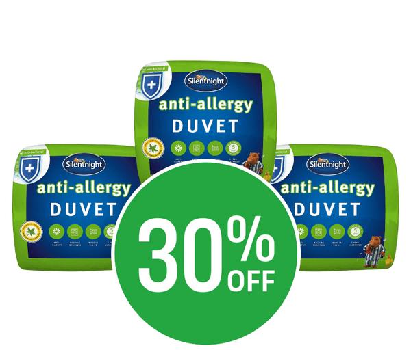 30% off Silentnight Anti Allergy 4.5 Tog Duvets