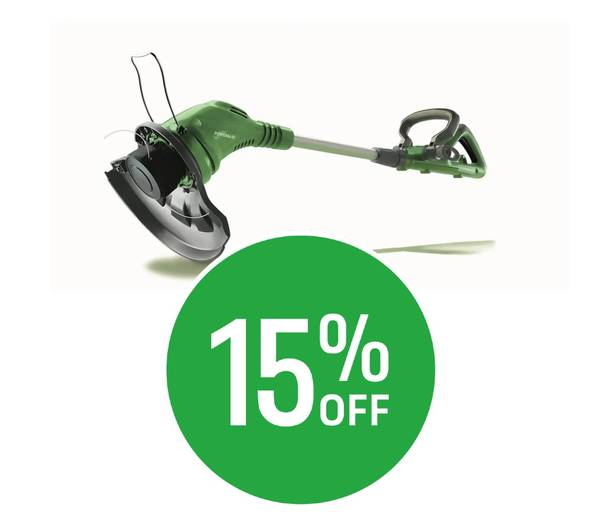 15% off Selected Powerbase Grass & Hedge Trimmers