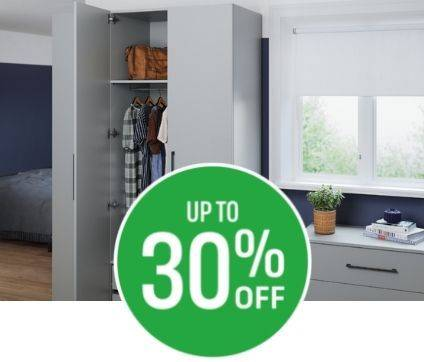 Enjoy 20% off when you spend £200 and 30% off when you spend £500 on Modular Bedrooms