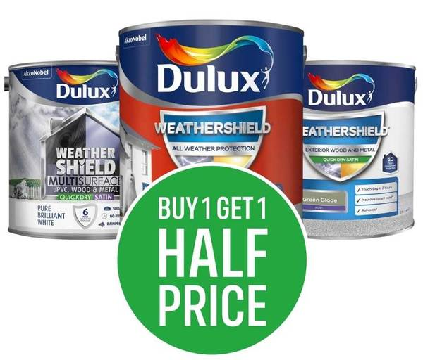 Buy One Get One Half Price Dulux Weathershield (Excludes clearance, Cheapest Item Half Price)