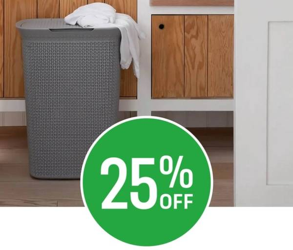 Save 25% on Selected Laundry Storage