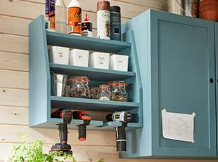 How to make your own drill and tool storage stand