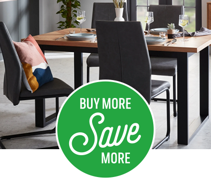 Save on Skelby dining table and chairs when bought together
