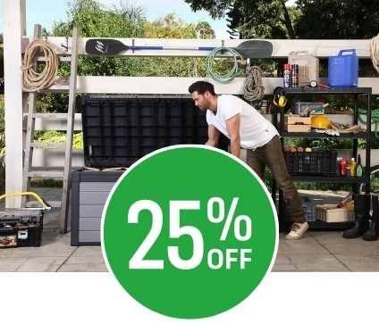 25% off Keter Premier 100 Outdoor Plastic Garden Storage Box 380L