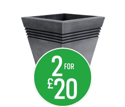2 for £20 Milano Square planter