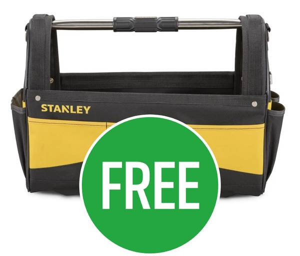 Free Stanley Open Tote Tool Bag 18