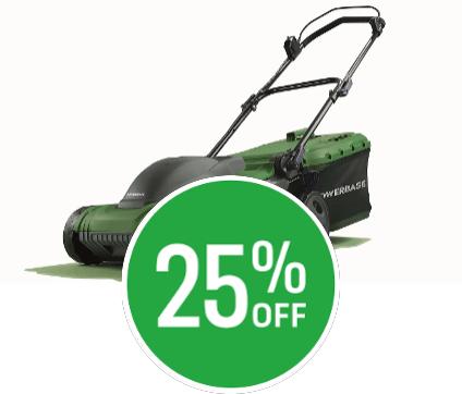 25% off Powerbase 1600W Electric Lawn Mower 37cm