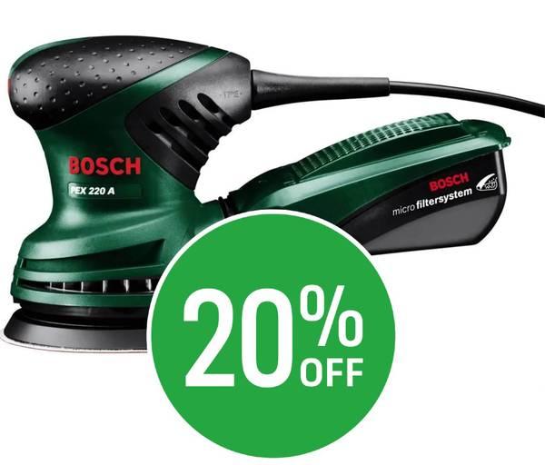 20% off Bosch Random Orbit Sander PEX 220 A