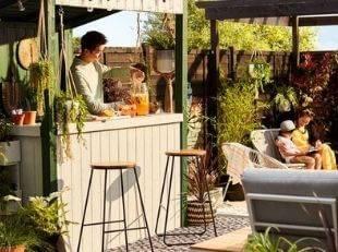 Outdoor garden bar ideas