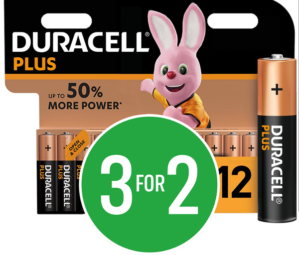 3 for 2 on Duracell Batteries