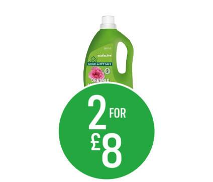 2 for £8 Selected Ecofective 1.5l
