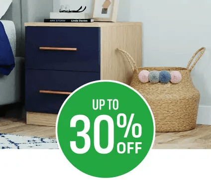 Get up to 30% off Modular Bedroom Furniture