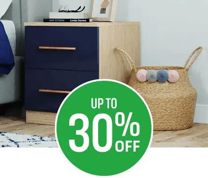 Get up to 30% off Modular Bedroom Furniture