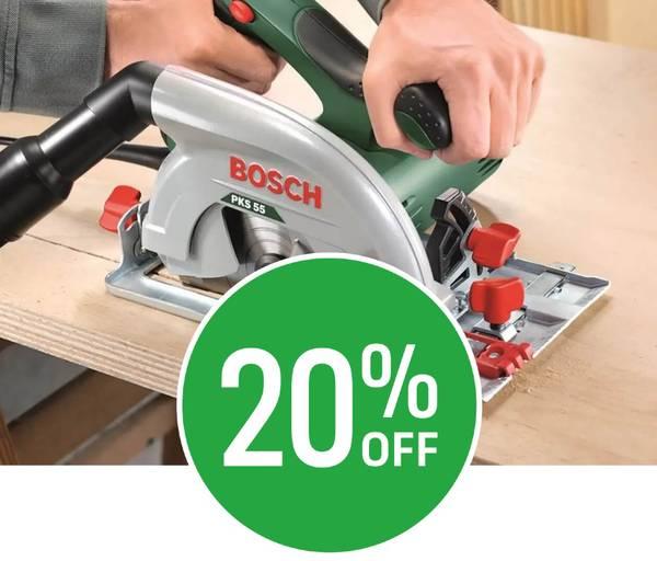 20% off Bosch PKS 55 Electric 1200W Circular Saw