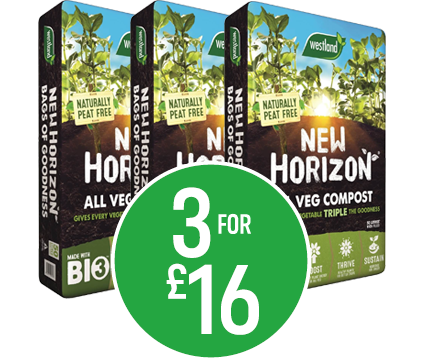 Get 3 for £16 New Horizon Veg Growing Compost 50l