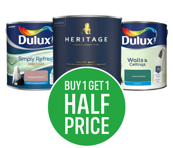 Buy One Get One Half Price All Dulux Interior Coloured Emulsion