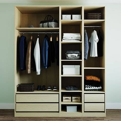 For the ultimate in flexibility, you can configure our modular wardrobes however you want – including adding shelves and internal drawers options to enhance your storage.