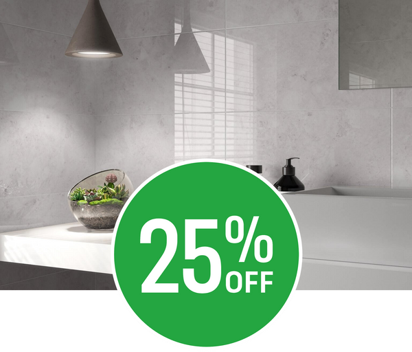 25% off Modena Salt Wall Tile - 25x50