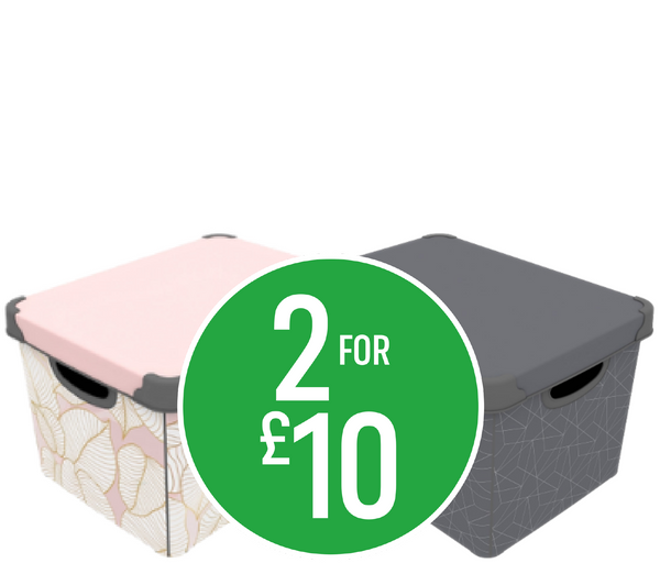 Get 2 for £10 on Decorative Storage Boxes