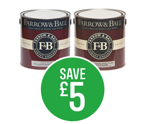 Save £5 on Farrow & Ball Estate and Modern 2.5L Emulsion Paint
