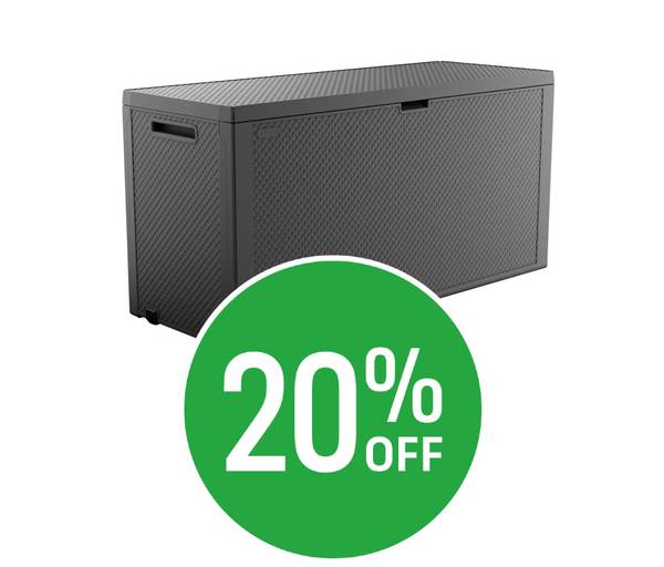 20% off Keter Emily Storage Box Anthracite 270