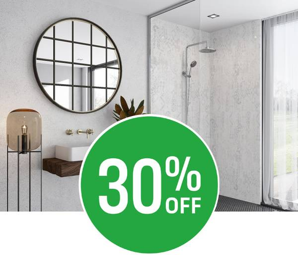Save on Style. Get 30% off Wetwall panels