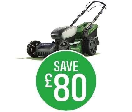 Save £80 Powerbase 40V Cordless Lawnmower 46cm