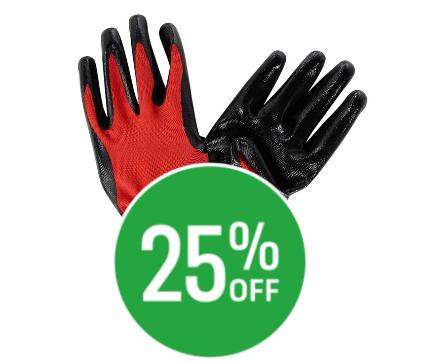 25% off Homebuild Multi Purpose Glove - 5 Pack - Medium