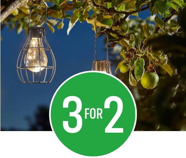3 for 2 on Solar Lights