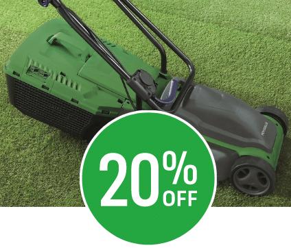 20% off Powerbase 1200W Electric Lawn Mower 32cm