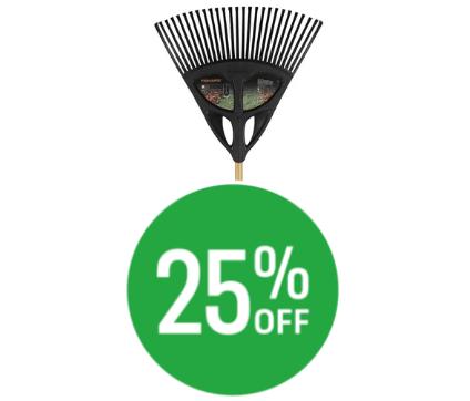 25% off Fiskars Leaf Garden Rake - Extra Large
