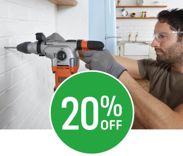 20% off Selected Black and Decker Power Tools