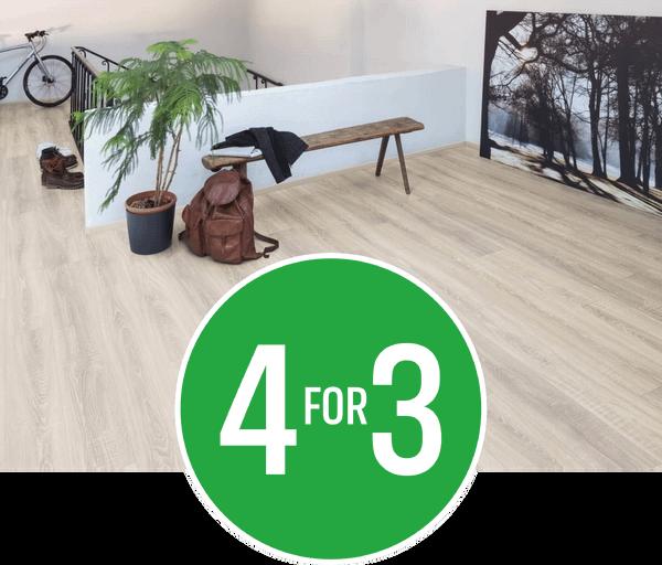 4 for 3 - All Laminate, Luxury Vinyl Tiles, Solid & Engineered Wood flooring