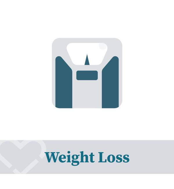 Weight loss scale logo