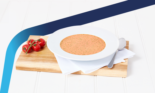 OPTIFAST tomato flavoured meal replacement soup in a bowl
