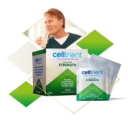 Celltrient Strength urolithin a powder in lemon flavor