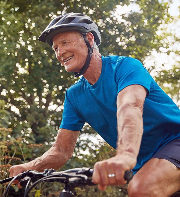 Image of a man on a bike