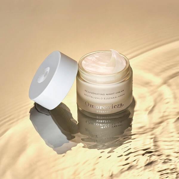 Rejuvenating Night Cream in rippling water