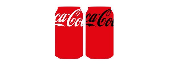 two personalised coca cola cans