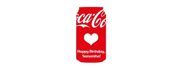 personalised coke can