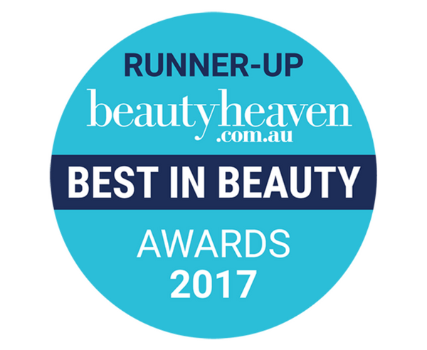 RUNNER-UP beautyheaven.com.au BEST IN BEAUTY AWARDS 2017
