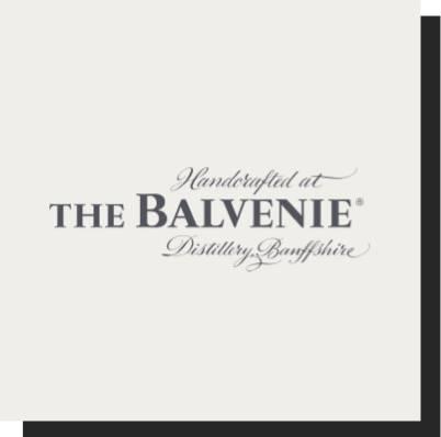 Handcrafted at the balvenie distillery Banffshire