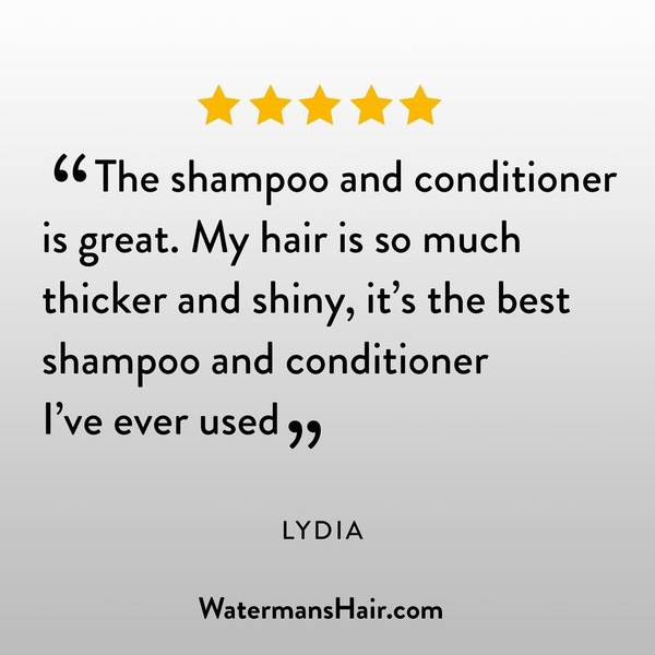 The shampoo and conditioner is great. My hair is so much thicker and shiny, it's the best shampoo and conditioner I've every used. Follow us on instagram
